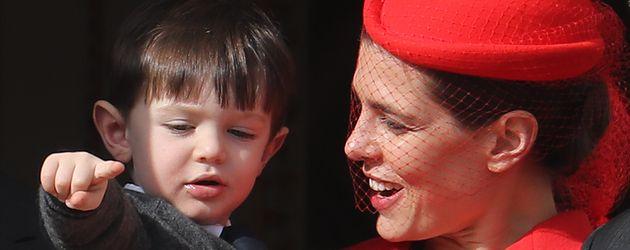 Charlotte Casiraghi und ihr Sohn Raphaël am Nationalfeiertag in Monaco