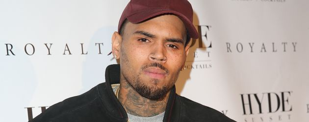 Chris Brown auf einer Listening-Party