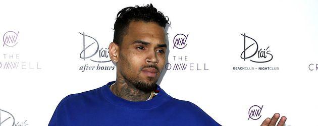 Chris Brown vor Club in Las Vegas