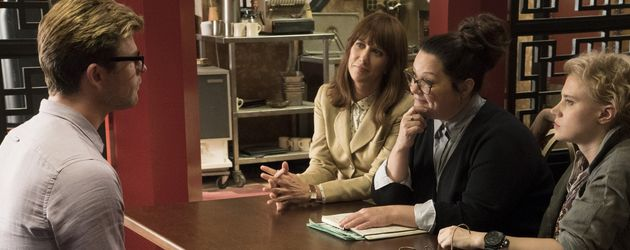 "Chris Hemsworth und Melissa McCarthy, Szene aus ""Ghostbusters"""