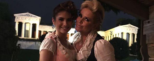 Claudia Effenberg mit ihrer Tochter Lucia