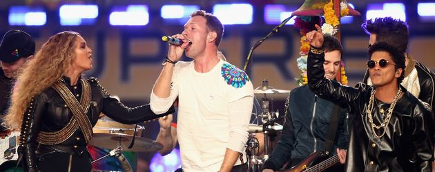 Beyonce, Coldplay, Chris Martin und Bruno Mars