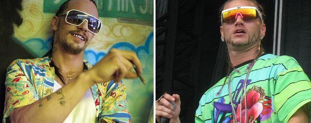 James Franco und Rapper Riff Raff, Collage