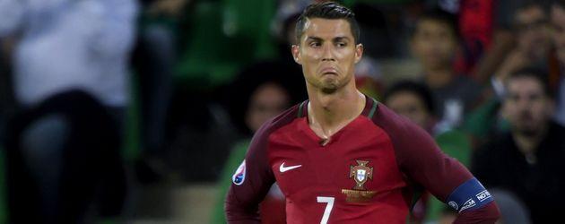 Cristiano Ronaldo beim EM-Spiel Portugal gegen Island