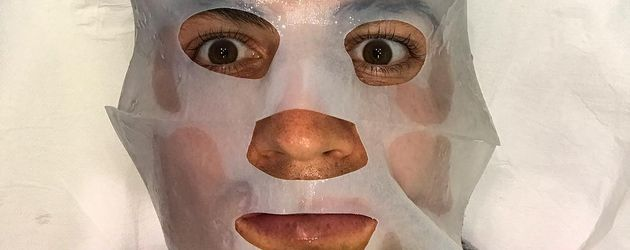 Cristiano Ronaldo mit Gesichtsmaske