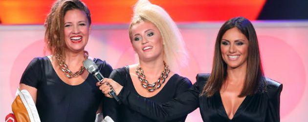 """Dana & Luna Schweiger sowie Moderatorin Nazan Eckes bei der 2. Folge """"Dance Dance Dance"""""""