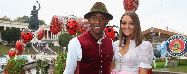 David Alaba besucht mit Katja Butylina das Oktoberfest 2014