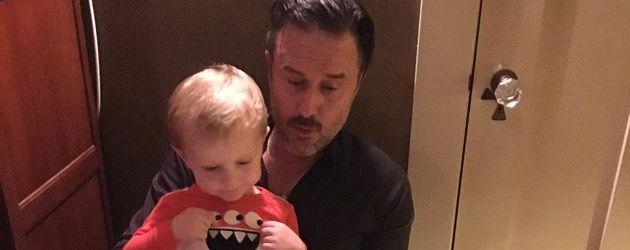 David Arquette und sein Sohn Charlie