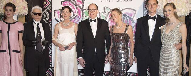Albert II von Monaco, Karl Lagerfeld, Charlotte Casiraghi und Caroline von Monaco