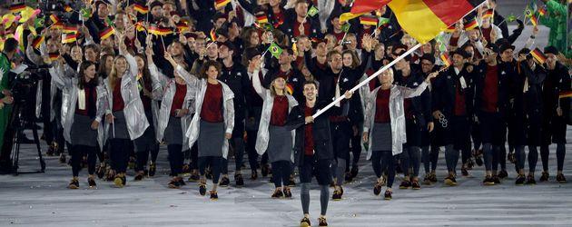 Timo Boll und die deutsche Olympiamannschaft