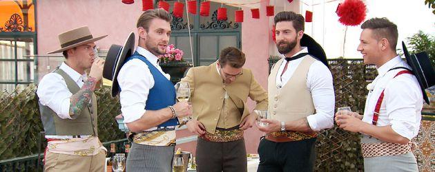 Die Bachelorette-Kandidaten beim Flamenco-Unterricht