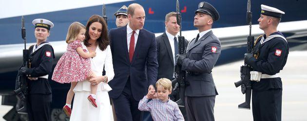 Die britischen Royals während eines Besuchs in Polen