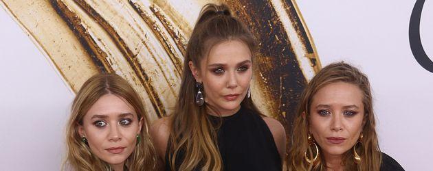 Die Olsen Twins und ihre Schwester Elizabeth Olsen bei den CFDA Fashion Awards 2016
