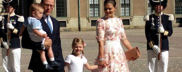 Prinz Oscar, Prinz Daniel, Prinzessin Estelle und Prinzessin Victoria von Schweden
