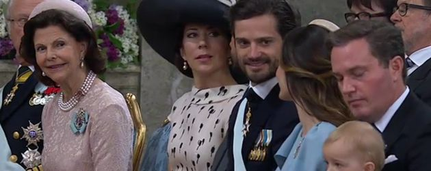 Die schwedischen Royals bei Prinz Oscars Taufe