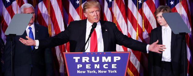 Donald Trump während seiner ersten Rede als US-Präsident