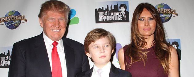 Donald, Melania und Barron Trump in New York