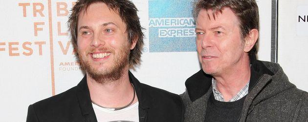 David Bowie und Duncan Jones auf einem Event
