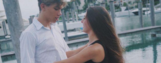 Elias Becker mit seiner Freundin in Florida