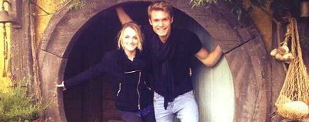 """Harry Potter""-Stars Evanna Lynch und Robbier Jarvis in Neuseeland"