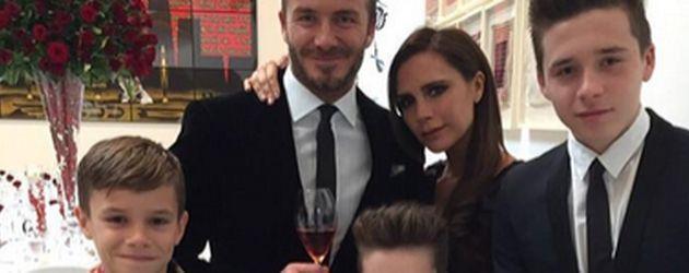Die ganze Familie Beckham vereint