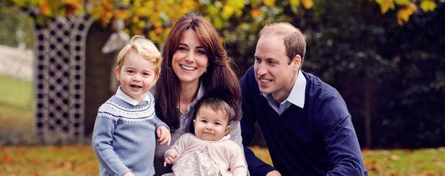 Prinz George, Herzogin Kate, Prinzessin Charlotte und Prinz William
