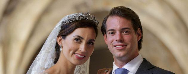 Prinz Felix von Luxemburg und seine Claire bei ihrer Hochzeit am 21. September 2013