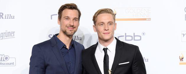 """Florian David Fitz und Matthias Schweighöfer bei der Verleihung der """"Goldenen Henne"""""""
