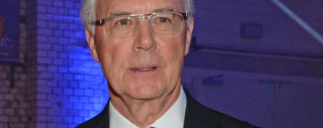 Franz Beckenbauer bei einer öffentlichen Veranstaltung