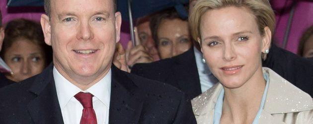 Fürstin Charlène und Albert II von Monaco