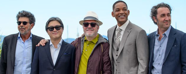 Gabriel Yared, Park Chan-Wook, Pedro Almodovar, Will Smith und P beim Photocall in Cannes