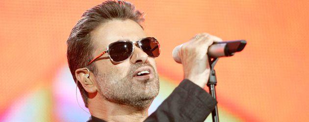 George Michael während eines Auftritts in London