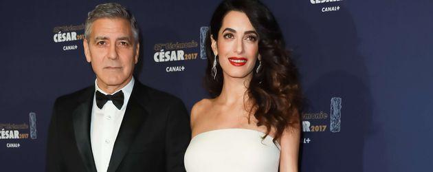 George und Amal Clooney bei der César Verleihung in Paris