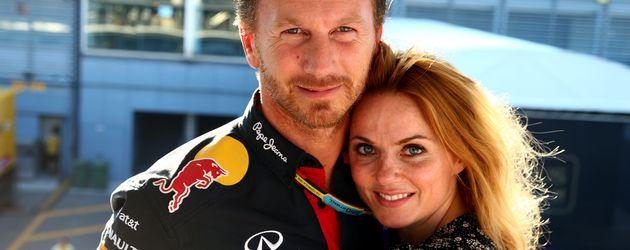 Geri Halliwell und ihr Mann Christian Horner