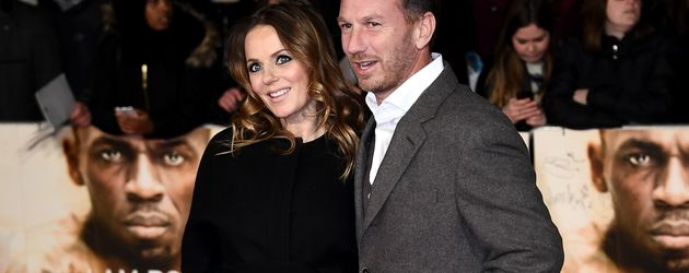 """Geri Horner mit Ehemann Christian auf der Weltpremiere von """"I Am Bolt"""""""