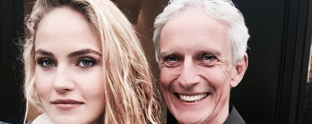 GNTM-Kandidatin Elena Carrière mit ihrem Vater Mathieu Carrière