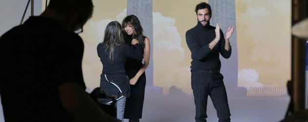 "Grace Capristo und Marco Mengoni beim Videodreh zu ""Ricorderai l'Amore"""