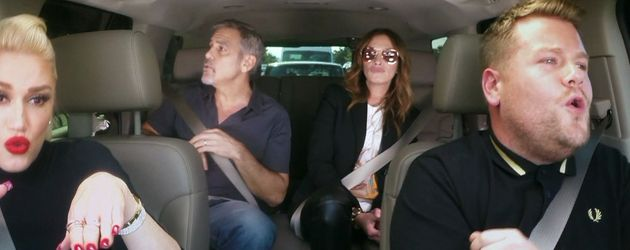 Gwen Stefani, George Clooney, James Corden und Julia Roberts
