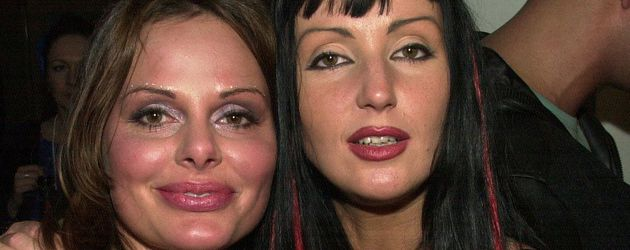 "Hanka Rackwitz (rechts) bei einer ""Big Brother""-Party"