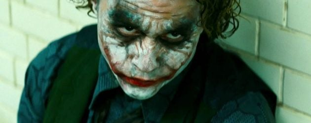 "Heath Ledger in seiner Rolle des Jokers von ""Batman: The Dark Knight"""