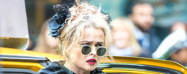 """Helena Bonham Carter im Oktober 2016 bei am Set von """"Ocean's Eight"""" in New York"""