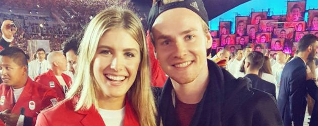 Hockey-Star Christopher Rühr mit Kanadas Tennis-Beauty Eugenie Bouchard