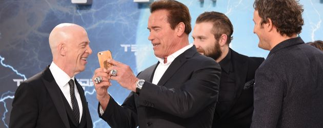 Arnold Schwarzenegger, Jason Clarke, J.K. Simmons und Jai Courtney