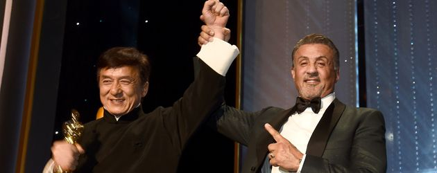 Jackie Chan und Sylvester Stallone im November 2016 bei den Governors Awards in L.A.