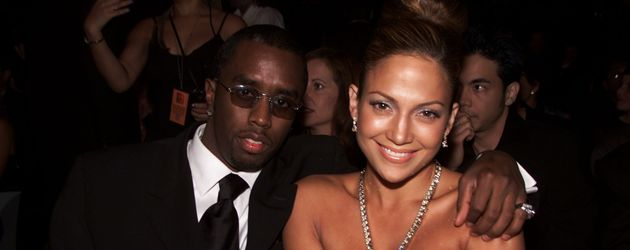Jennifer Lopez mit P. Diddy im Jahr 2000