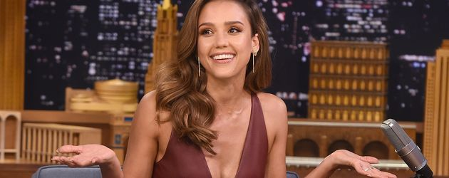 "Jessica Alba in der ""Tonight Show Starring Jimmy Fallon"", 2016"