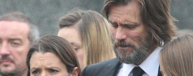 Jim Carrey auf der Beerdigung von Cathriona White