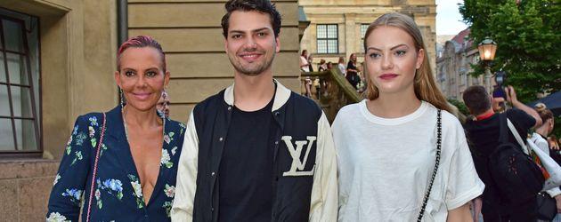"""Jimi Blue, Natascha und Cheyenne Ochsenknecht bei der """"Mercedes Benz Fashion Wee"""