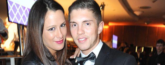 Joey Heindle (r.) und seine Verlobte Justine beim der ECHO-Aftershowparty 2015