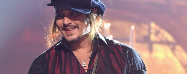 Johnny Depp bei einem Auftritt seiner Band Hollywood Vampires